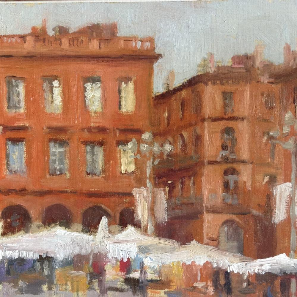 """""""Marche sur la place du Capitole"""" original fine art by Christine Bayle"""