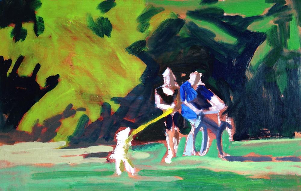 """A Walk in the Park (literally)"" original fine art by Pamela Hoffmeister"
