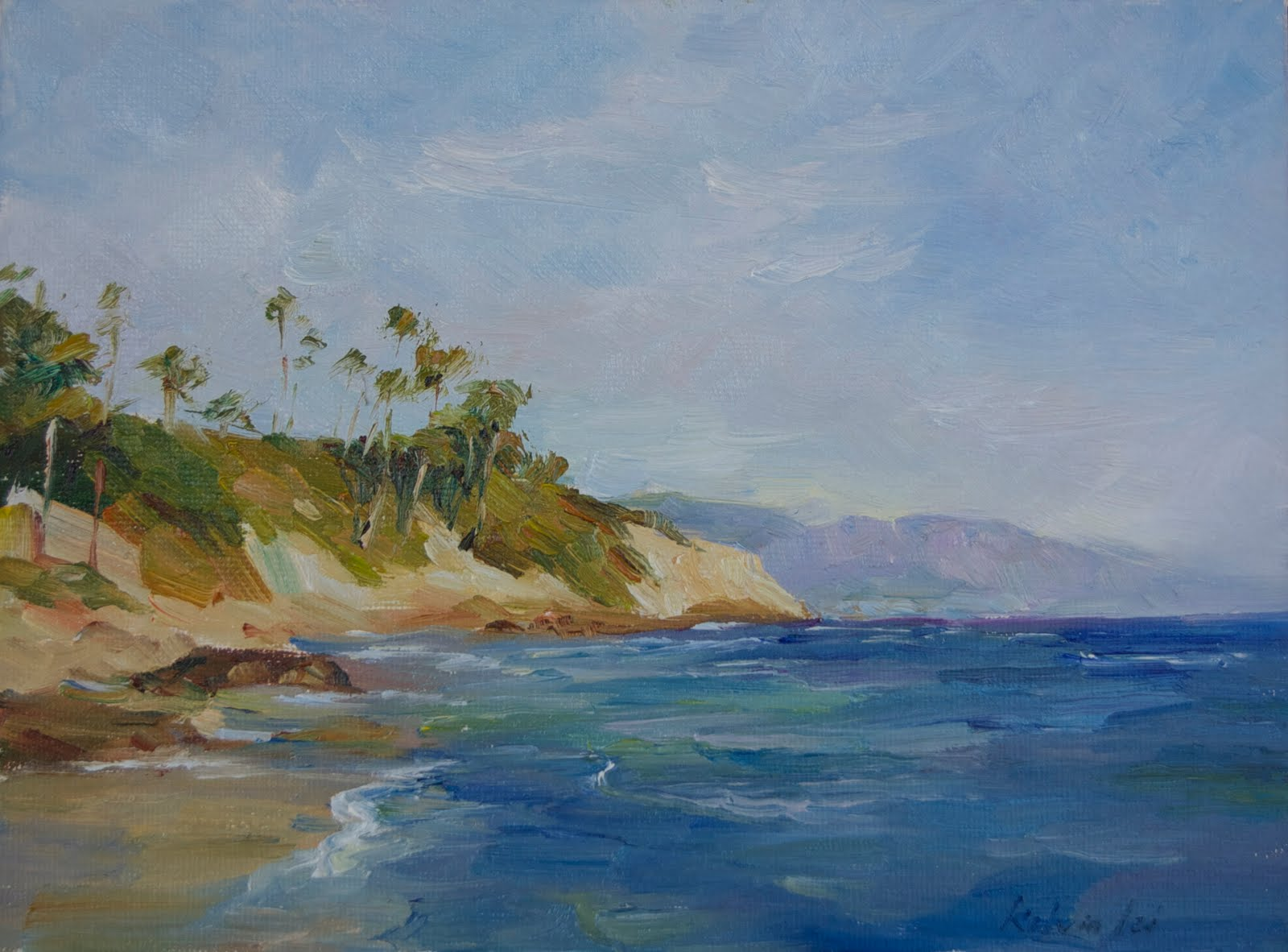"""Laguna beach"" original fine art by Kelvin Lei"