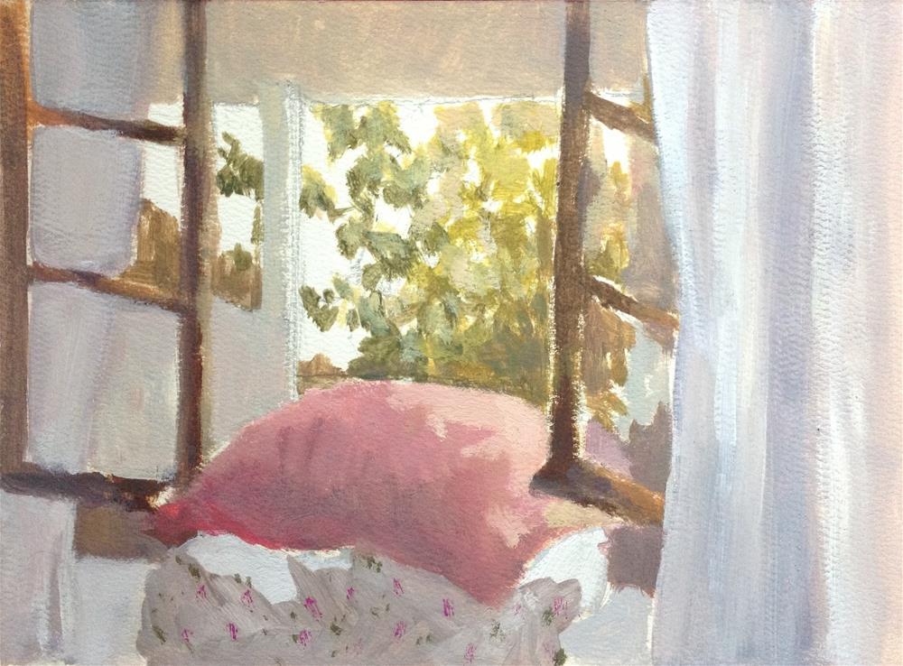 """Open window"" original fine art by Christine Bayle"
