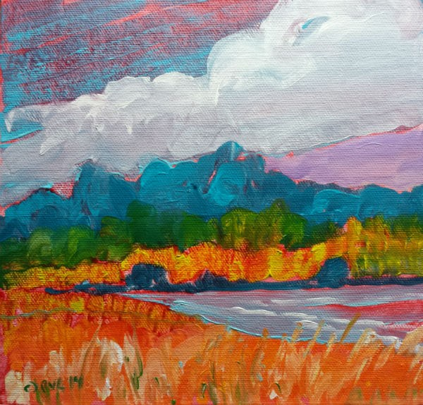 """Valley Storm 10 Original landscape oil painting"" original fine art by Pam Van Londen"