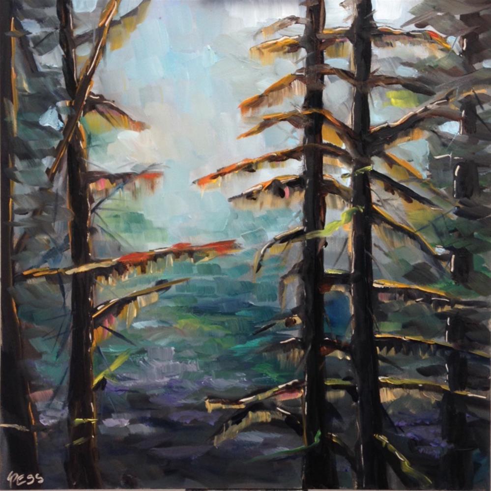 """Where The Light Shines Through- Switchfoot"" original fine art by Tess Lehman"