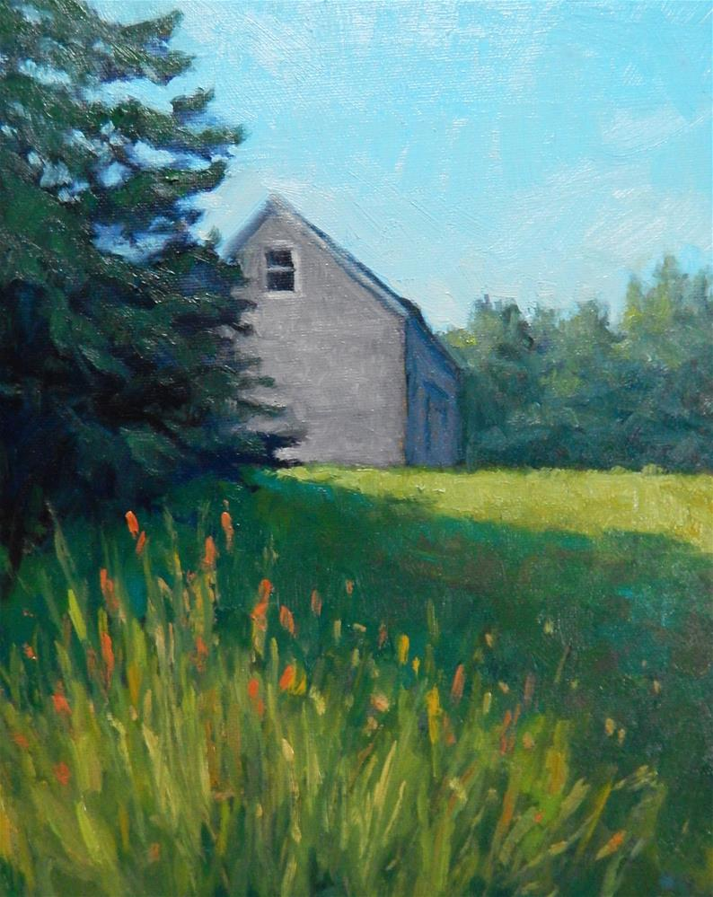 """Barn and Grasses"" original fine art by Lisa Kyle"