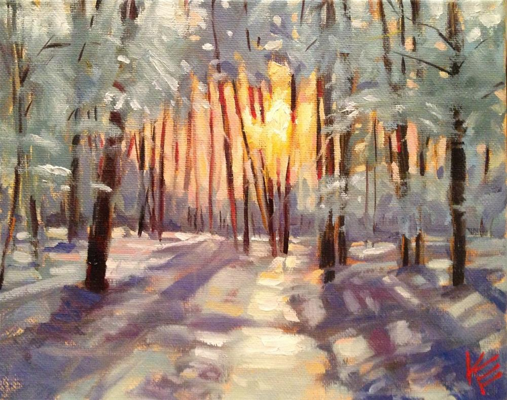 """Winters Dawn"" original fine art by Krista Eaton"