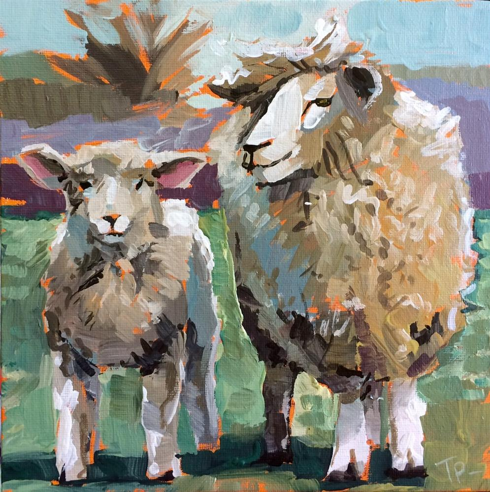 """Humbling Sheep"" original fine art by Teddi Parker"