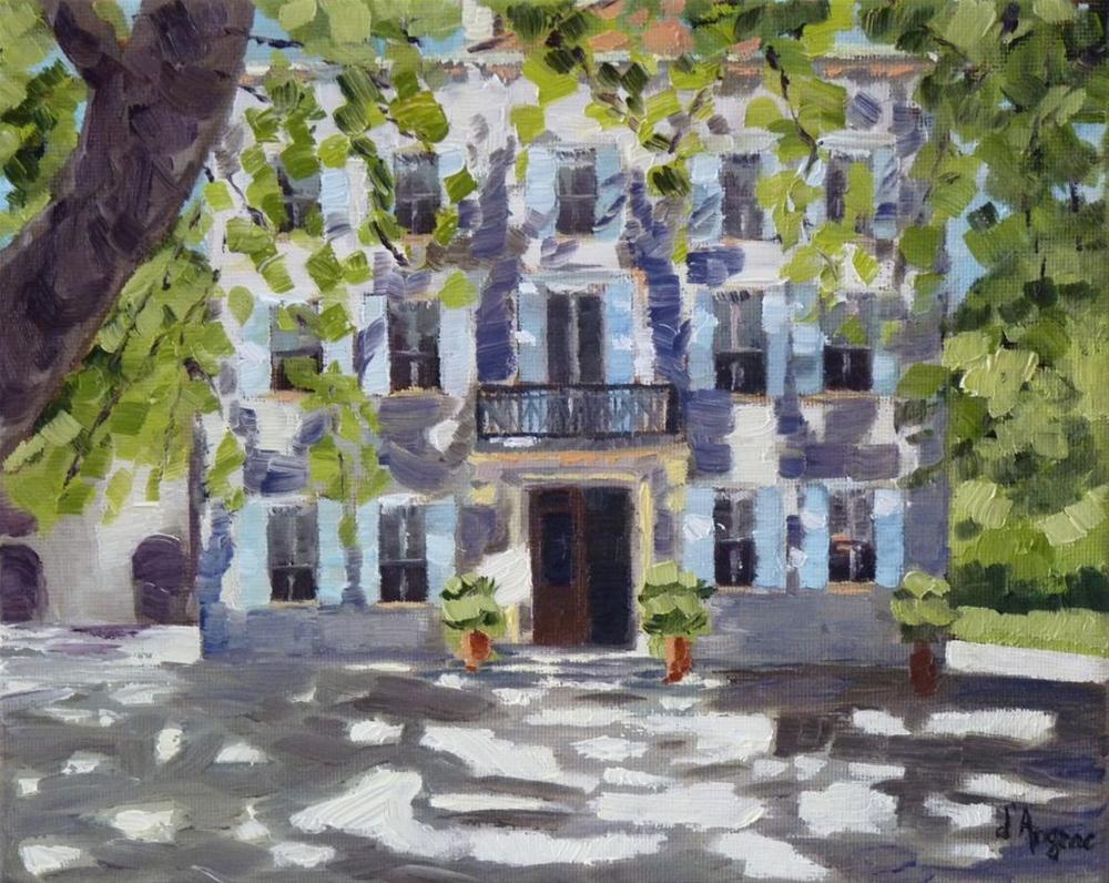 """Grand Hotel"" original fine art by Karen D'angeac Mihm"