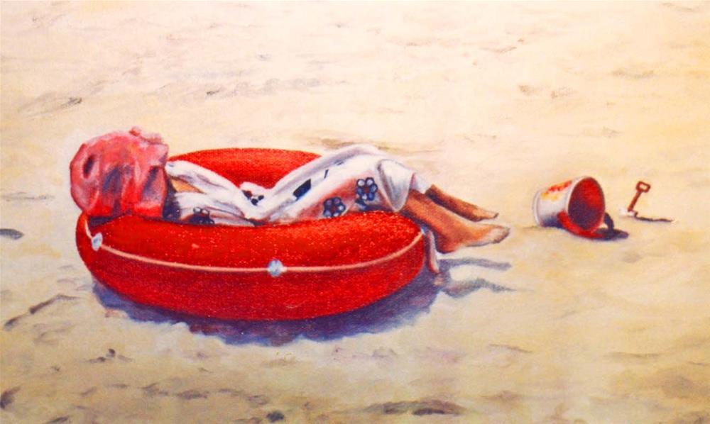 """Laid Back, 8x4 Oil on Canvas"" original fine art by Carmen Beecher"