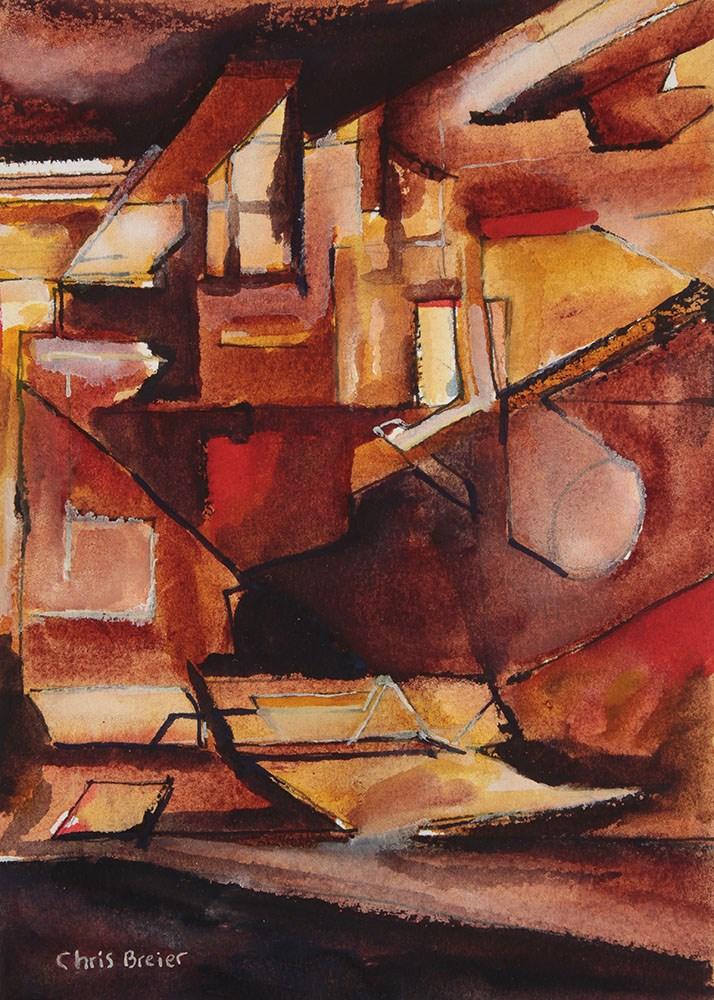 """The Steel Factory"" original fine art by Chris  Breier"