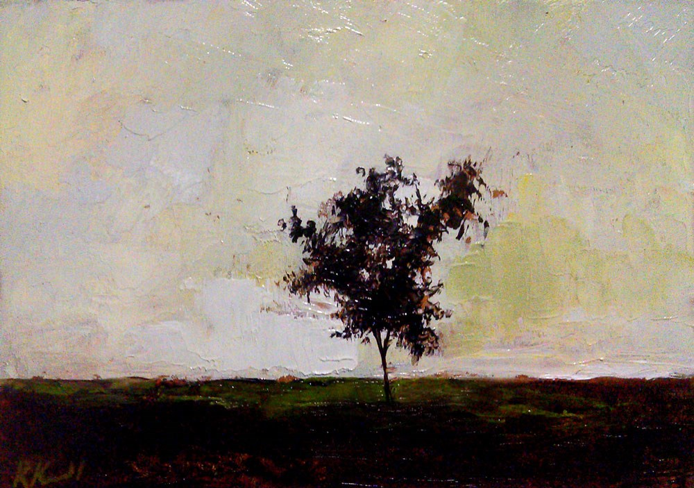 """Twiggy Tree"" original fine art by Bob Kimball"