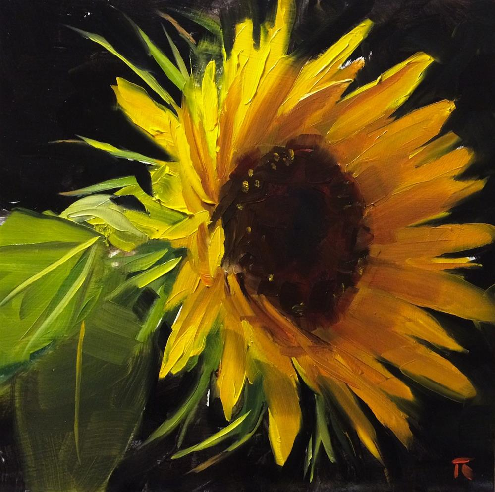 """Sunflower Study 1"" original fine art by Thomas Ruckstuhl"
