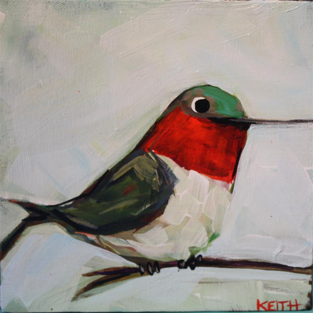 """Handsome Little Hummer"" original fine art by Kandice Keith"