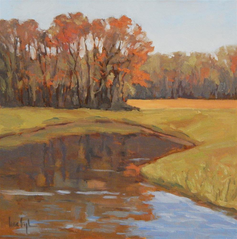 """""""At Jack's Pond"""" original fine art by Lisa Kyle"""