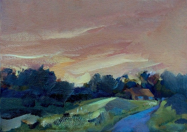 """Summer Sunrise"" original fine art by Anne Wood"