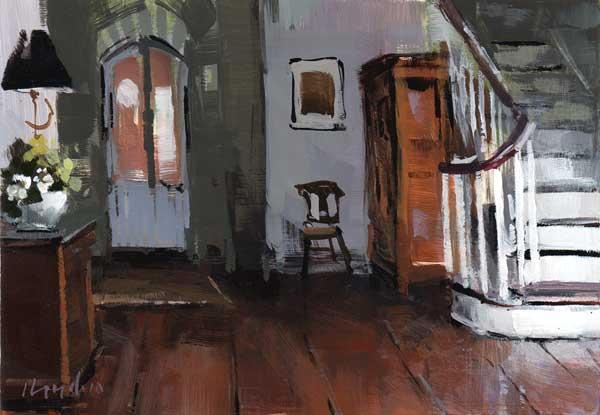 """Foyer and Staircase"" original fine art by David Lloyd"