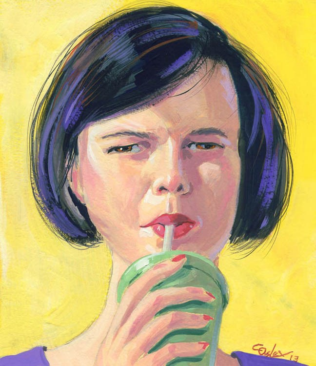"""""""Sippy"""" original fine art by Chris Ousley"""