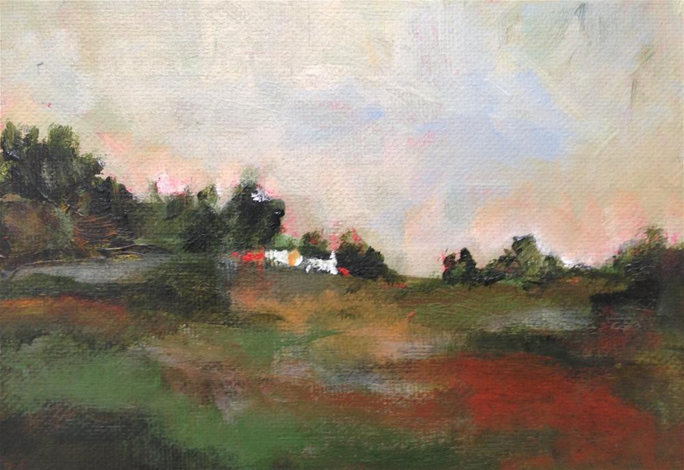 """""""Little White Houses"""" original fine art by Molly Wright"""