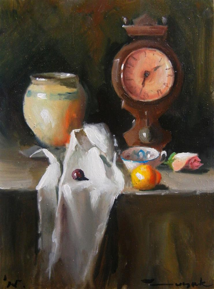 """At table"" original fine art by Dragan Culjak"