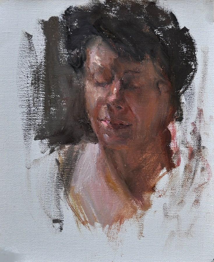"""Jan"" original fine art by Taisia Kuklina"