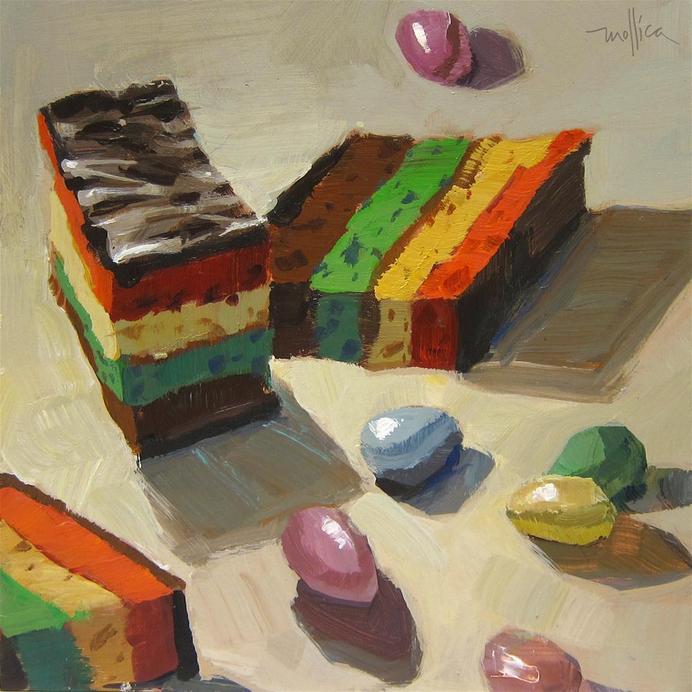 """""""Roma's Pastries"""" original fine art by Patti Mollica"""
