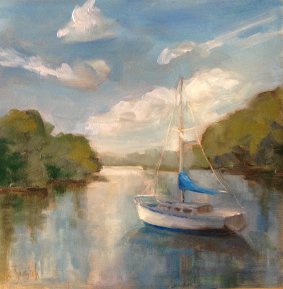 """""""Sailboat"""" original fine art by Carol Josefiak"""