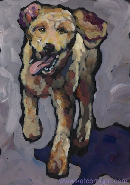 """Trixie July 14"" original fine art by Kat Corrigan"
