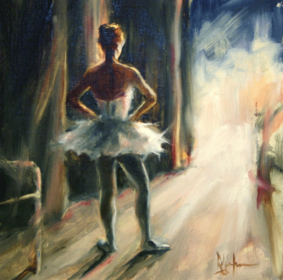 """""""Waiting in the Wings"""" original fine art by Ralph Grady James"""