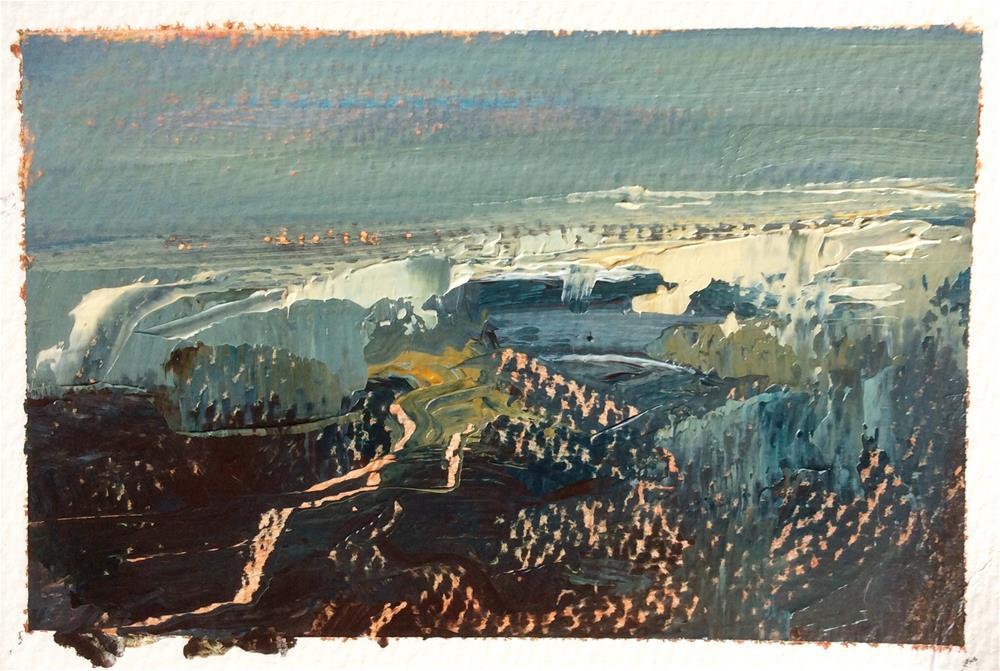 """White Night 4"" original fine art by Anne Wood"