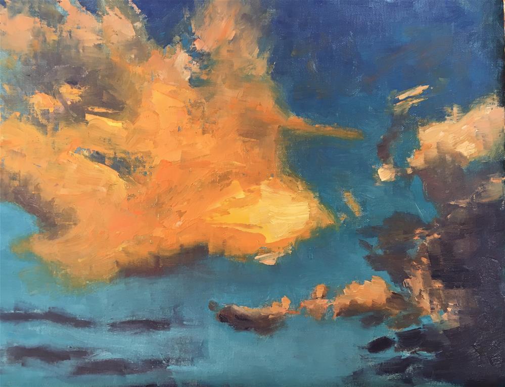 """Cloud Drama II"" original fine art by Kaia Thomas"