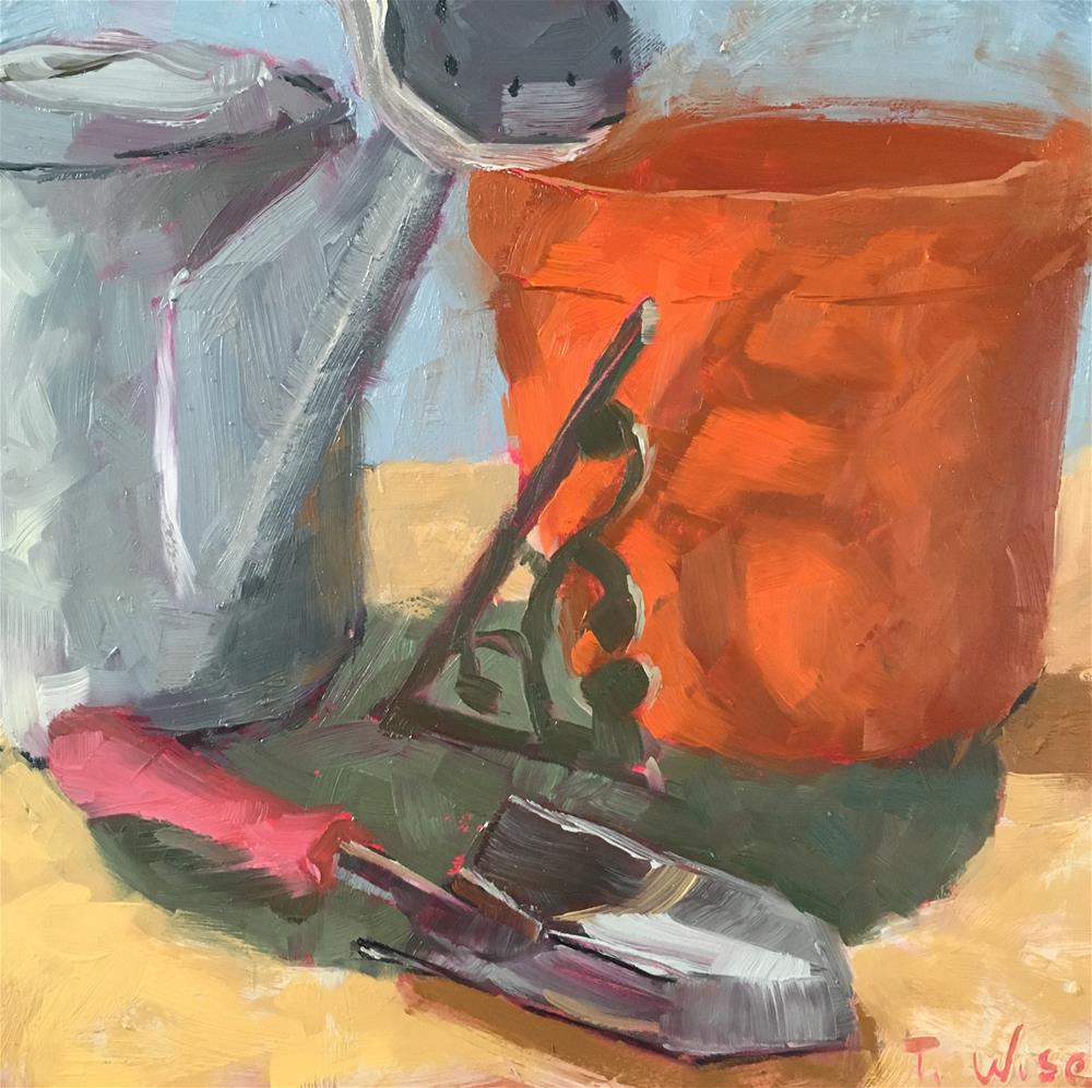 """Terracotta Still Life"" original fine art by Tracy Wise"
