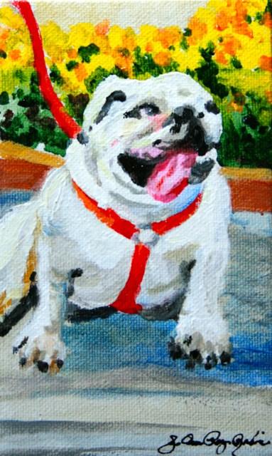 """""""A lotta Bull"""" original fine art by JoAnne Perez Robinson"""