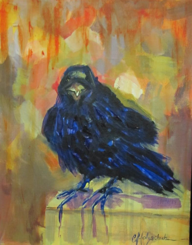 """Raven Mad"" original fine art by Christine Holzschuh"
