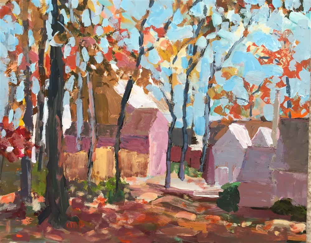 """Autumn landscape"" original fine art by Christine Parker"