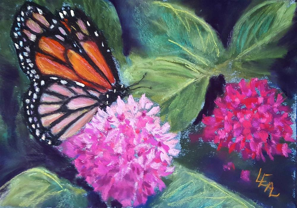 """Monarch and Pentas"" original fine art by Anna Lisa Leal"