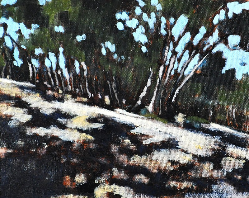 """Eucalyptus Forest Painting 2"" original fine art by Kevin Inman"
