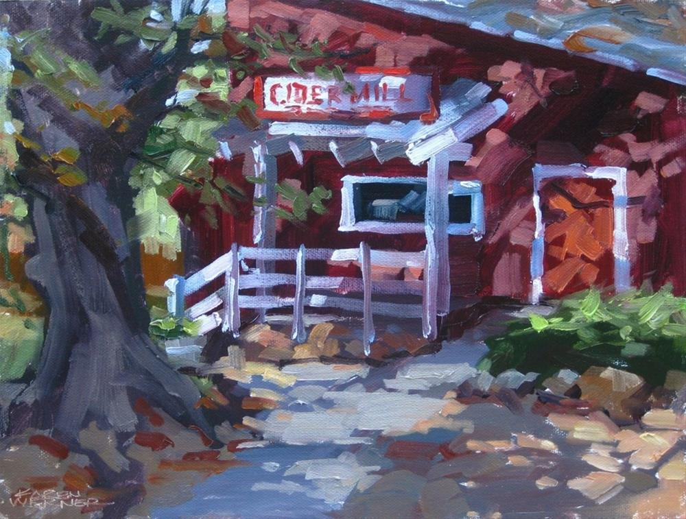"""Cider Mill"" original fine art by Karen Werner"