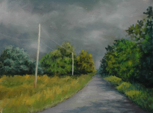 """""""Mostly Sunny With a Chance of Showers"""" original fine art by Susan Klabak"""