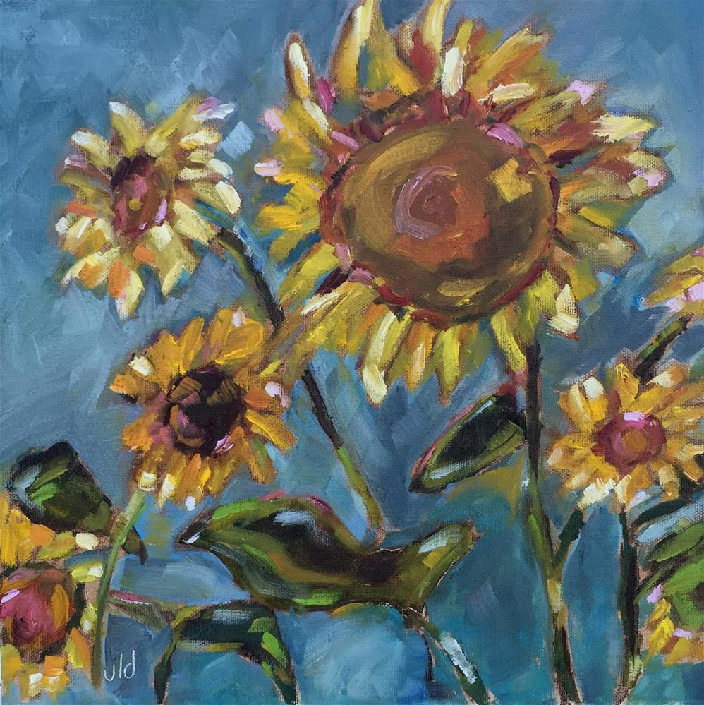 """""""Out with friends"""" original fine art by Jean Delaney"""