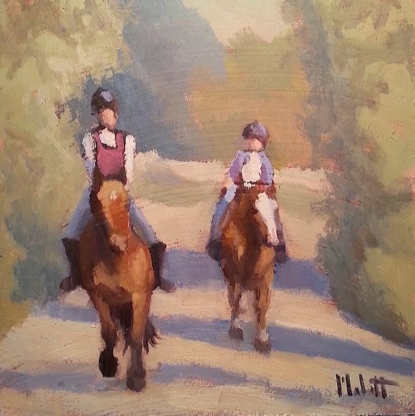 """Equestrian Painting Horseback Riding Original Oil Impressionism"" original fine art by Heidi Malott"