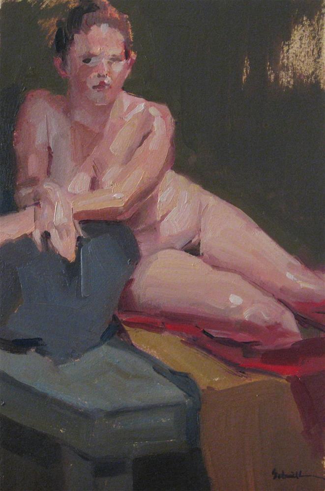 """Little Lindsey"" original fine art by Sarah Sedwick"