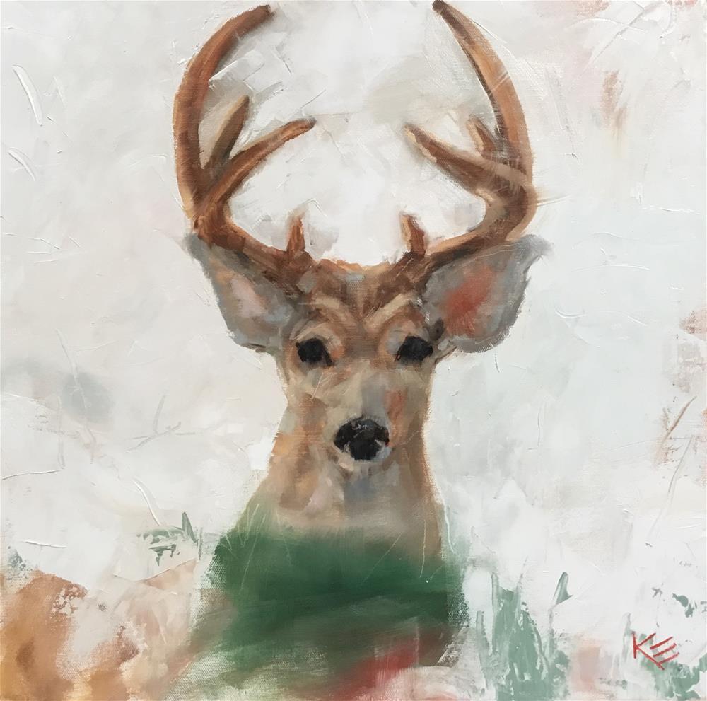 """Deer Me"" original fine art by Krista Eaton"