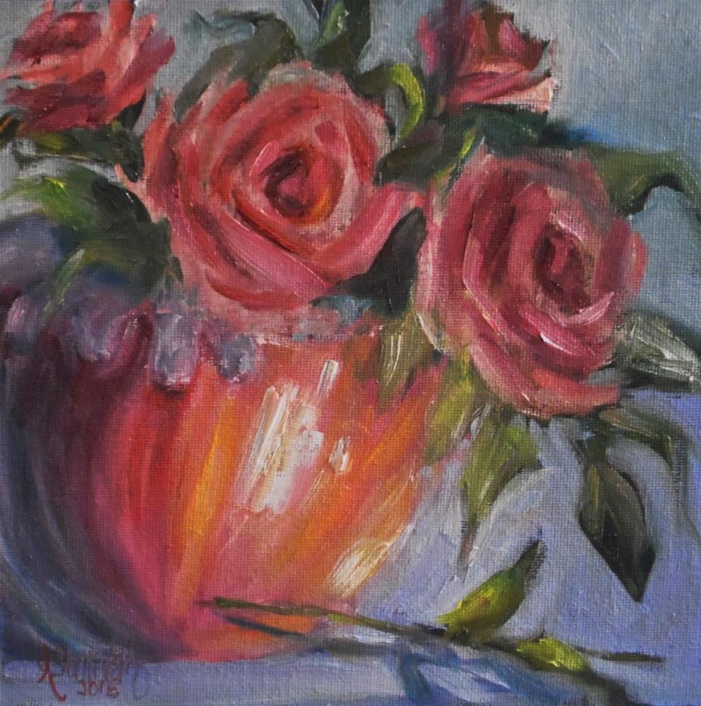"""Just To Make Her Happy still life painting by Alabama Artist Angela Sullivan"" original fine art by Angela Sullivan"