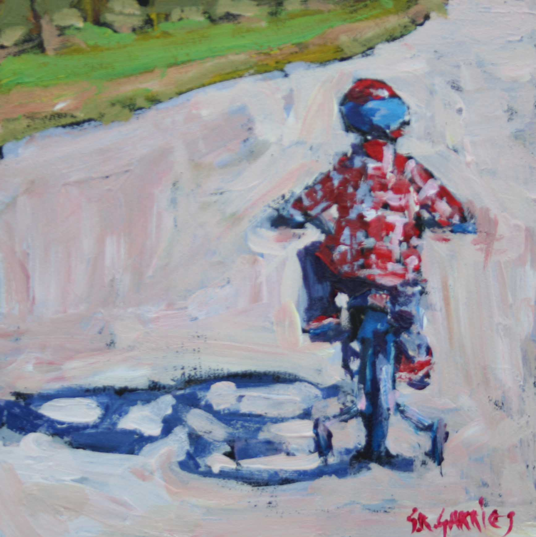 """training wheels"" original fine art by Shelley Garries"