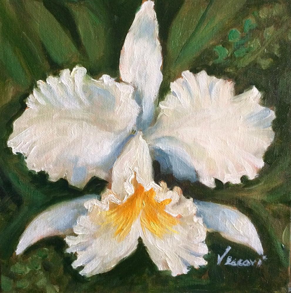 """Orchid 3"" original fine art by Valerie Vescovi"