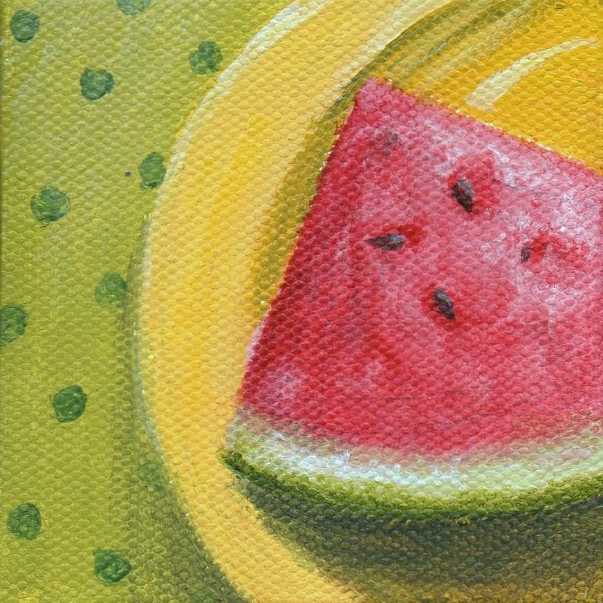 """""""Summer Taste"""" original fine art by Debbie Shirley"""