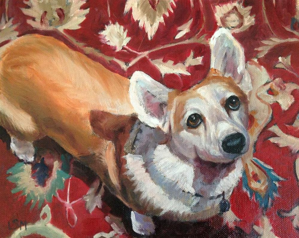"""Razzle Dazzle - Pet Portrait"" original fine art by Linda Marino"