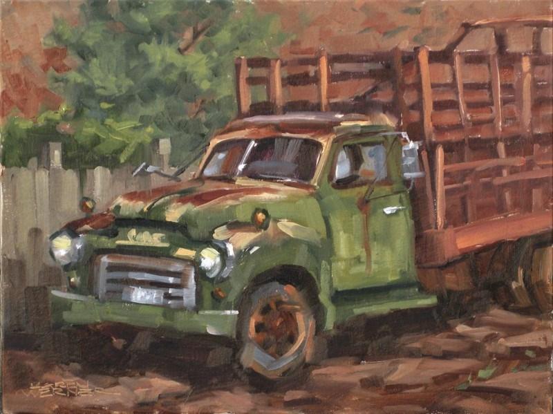 """""""Rusty Rest"""" original fine art by Karen Werner"""