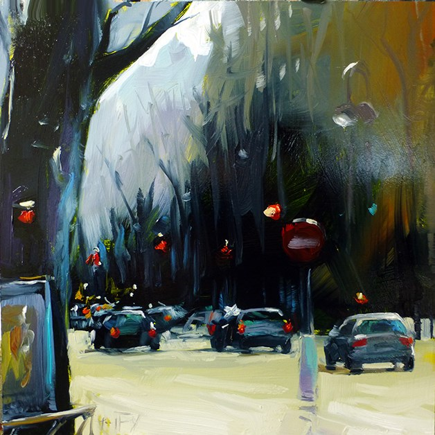 """""""Straßen von Paris"""" original fine art by Jurij Frey"""
