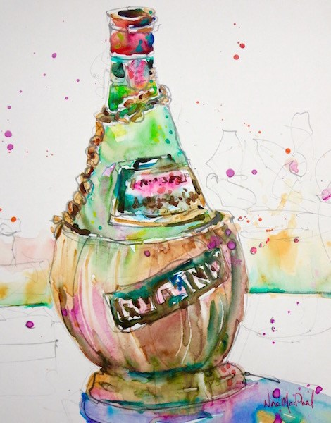 """study of a bottle"" original fine art by Nora MacPhail"
