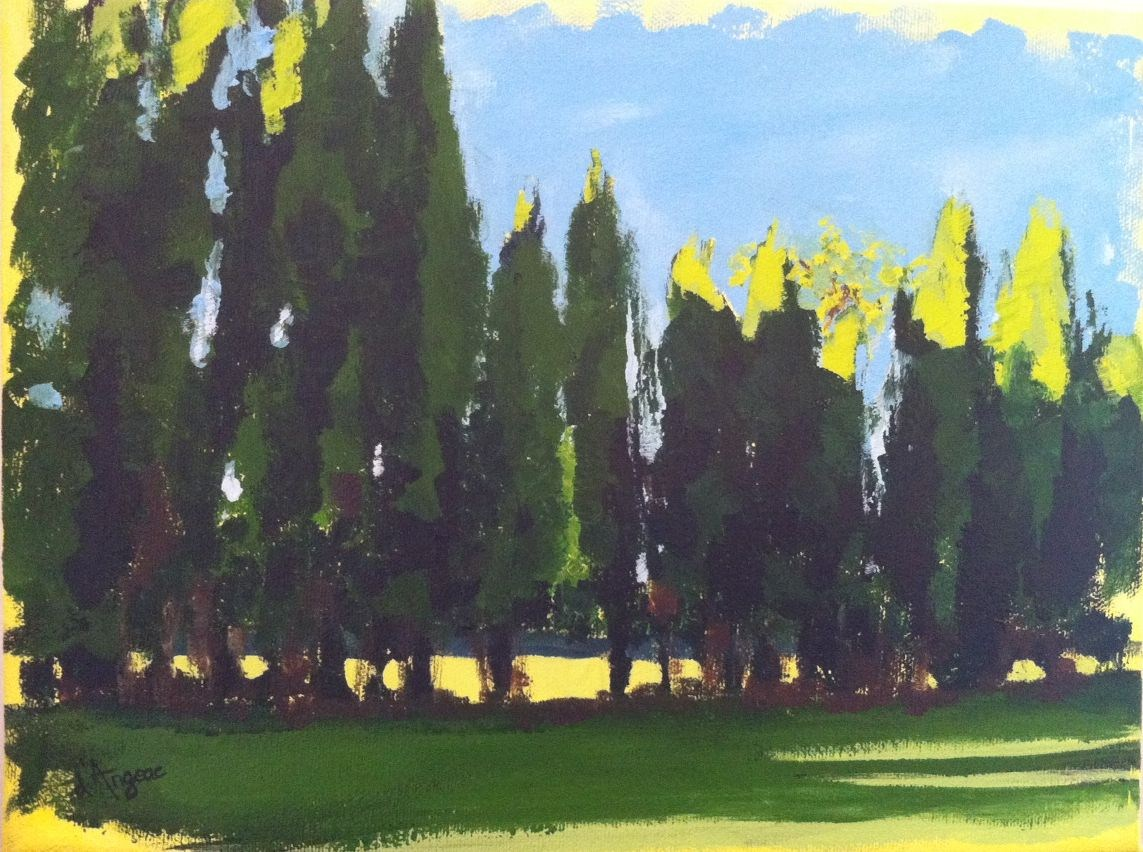 """Majestic Trees"" original fine art by Karen D'angeac Mihm"