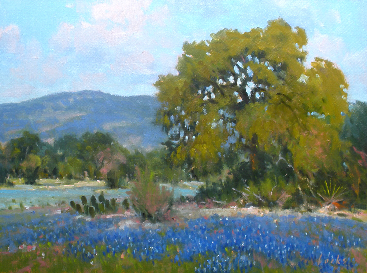 """Blue Near Bandera"" original fine art by David Forks"
